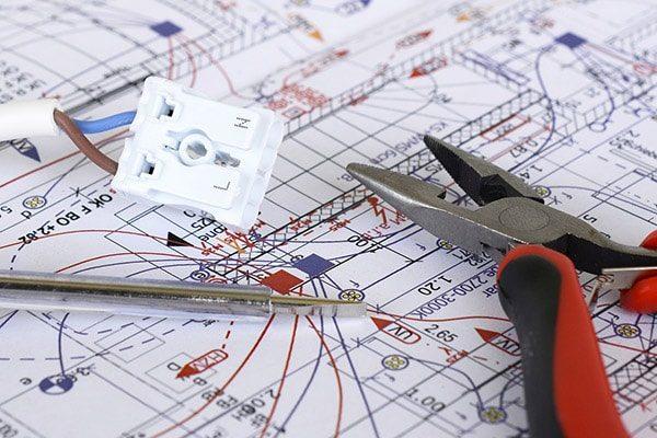 elektriker gentofte el-entreprise plantegning ledning 600x400